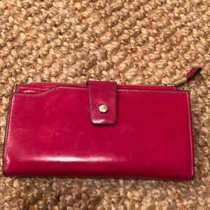 Handbags - 🔴3/$15 Fuschia Pink Leather 5-section Wallet
